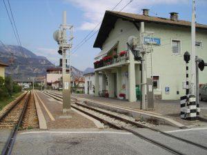 La stazione di Lavis inaugurata nel 1957